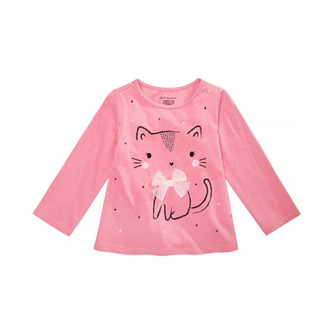 First Impressions Girls Kitty Graphic T-Shirt, Pink, 24 mos - 24 mos