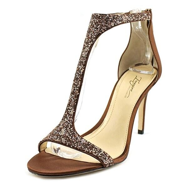 Imagine Vince Camuto Phoebe Women Open-Toe Canvas Bronze Heels