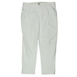 Spanx By Sara Blakely Womens Slimming Cuffed Capri Jeans - 31