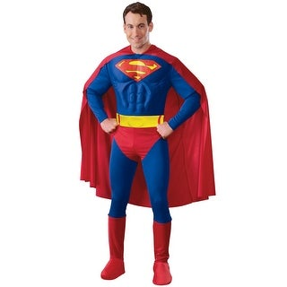 Rubies Deluxe Muscle Chest Superman Adult Costume - Blue/Red