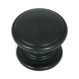 Stone Mill Hardware   Antique Black Saybrook Cabinet Knobs (Pack Of 5)