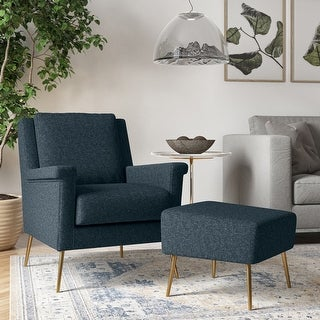Link to Carson Carrington Gunther Mid Century Modern Tweed Chair and Ottoman Similar Items in Living Room Furniture
