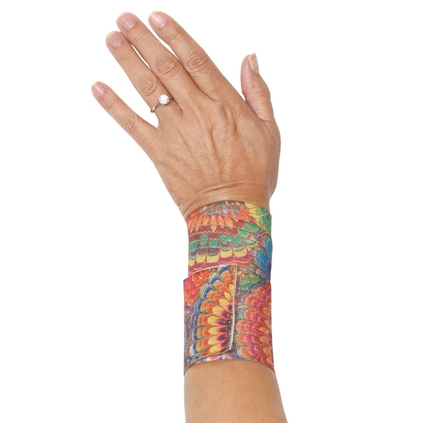 Women's Adjustable Printed Bandage Wrap - Wrist Ankle Elbow Support - Tie Dye - Tie Dye