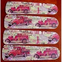 Firetrucks Custom Designer 42in Ceiling Fan Blades Set - Multi