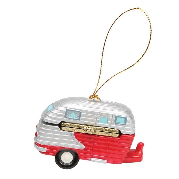 christmas decoration porcelain surprise ornaments box happy camper - Christmas Camper Decoration