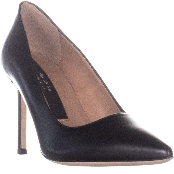 c32ee6dc751 Shop Via Spiga Nikole Slip On Pumps, Black Leather - 8 US / 38 EU ...
