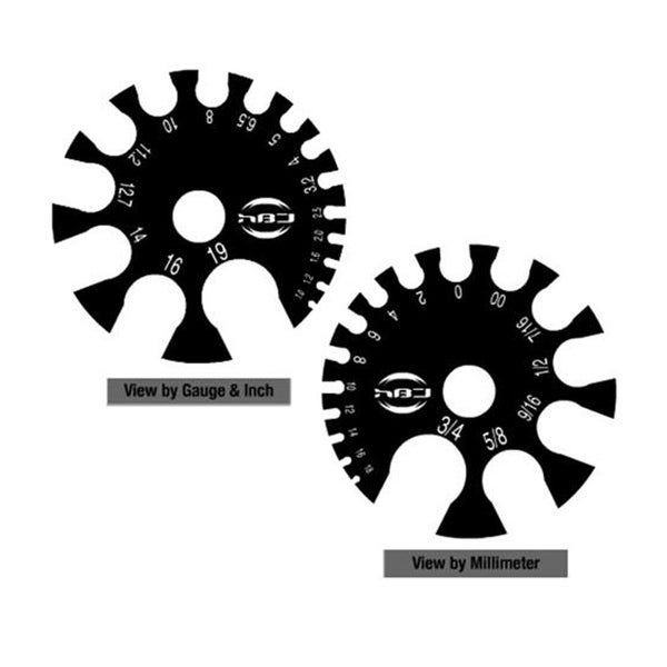 Black Acrylic Gauge Measurment Wheel (Sold Individually)