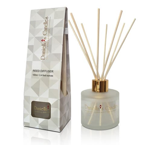 Reed Diffuser Set 100ML Frosted, Sensual Amber