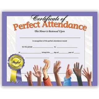 Flipside Certificates Perfect Attend Inkjet Laser - Pack of 6