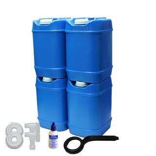 5-Gallon Stackable Water Container kit, BPA Free, High Density Polyetholene (HDPE)