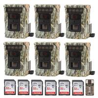 Browning Defender 850 Trail Camera (6) with 32GB Card (6) and Focus Reader - Camouflage