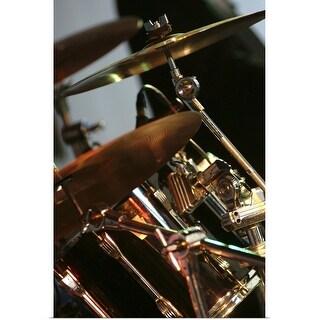 """Drum kit at Nantwich Jazz"" Poster Print"