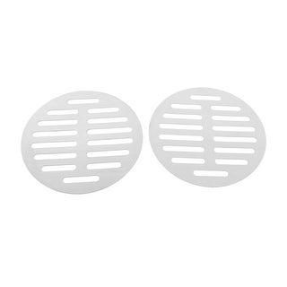 "Unique Bargains Stainless Steel Kitchen Bathroom Round Floor Drain Cover 5"" 12.5cm 2pcs"