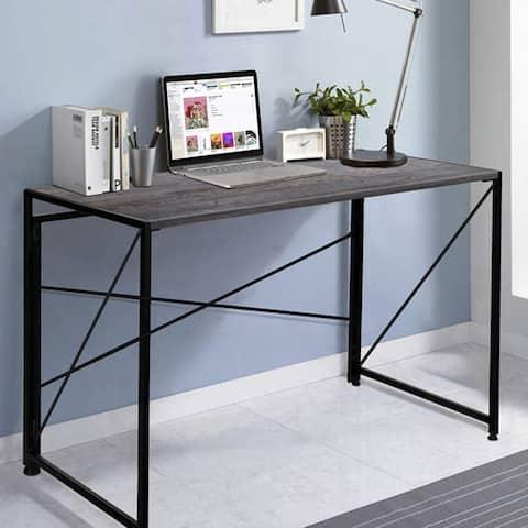 NOVA FURNITURE Folding Home Office Computer Desk, Writing Desk for Urban Apartment and Dormitory, Grey Oak Desktop