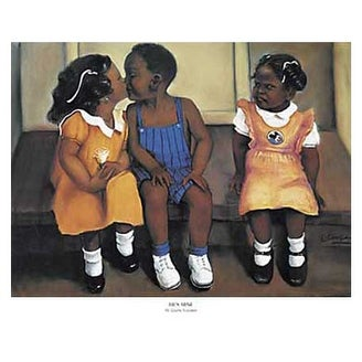 ''He's Mine'' by Laurie Cooper African American Art Print (14 x 17 in.)