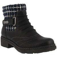 Spring Step Women's Citrine Ankle Boot Black Synthetic Leather