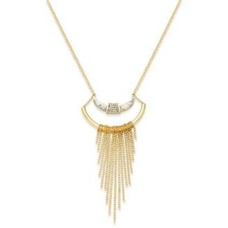 42eb87179b400 Macys Gold-Tone Crescent Horn Fringe Necklace - GOLD