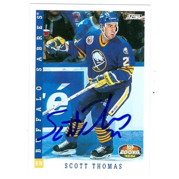 03a8a5525 Shop Scott Thomas Autographed Hockey Card Buffalo Sabres 1993 Score No. -  Free Shipping On Orders Over  45 - Overstock.com - 23689706