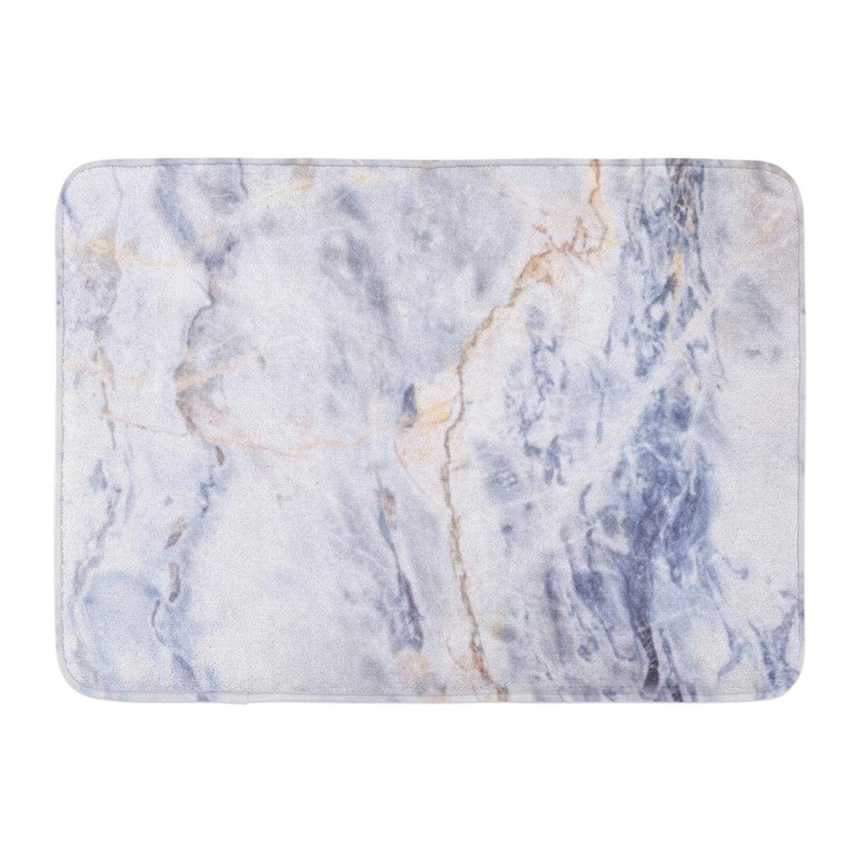 Blue Gold Gray Light Marble Stone Watercolor Color Pattern Doormat Floor Rug Bath Mat 23 6x15 7 Inch Multi On Sale Overstock 31780449