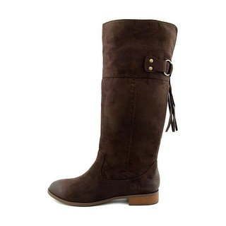 BC Footwear Womens Collective Fabric Almond Toe Knee High Fashion Boots