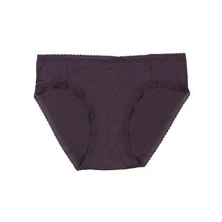 Yummie by Heather Thomson Womens Christine Brief Panty Micro Modal Lace Trim - M
