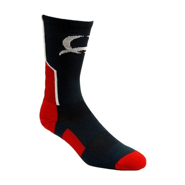Cinch Socks Mens Crew Logo Reinforced Comfort Navy