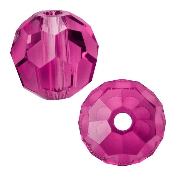 Swarovski Elements Crystal, 5000 Round Beads 8mm, 8 Pieces, Fuchsia