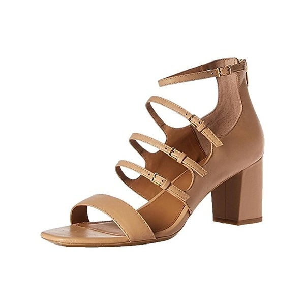 Calvin Klein Womens Caz Heels Leather Strappy
