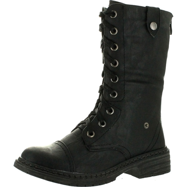 Wanted Womens Crowley Lace Up Combat Bootie