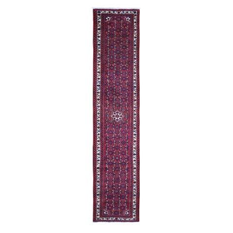 """Hand Knotted Red Persian with Wool Oriental Rug (2'8"""" x 13'3"""") - 2'8"""" x 13'3"""""""