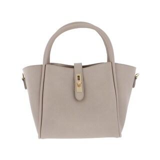 Urban Expressions Womens June Satchel Handbag Vegan Leather Convertible - MEDIUM