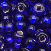 Czech Seed Beads 6/0 Cobalt Blue Silver Lined (1 Ounce)