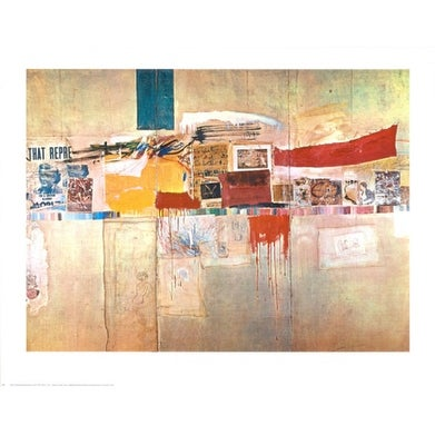 ''Rebus, 1955'' by Robert Rauschenberg Abstract Art Print (22 x 28 in.)
