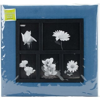 "Pioneer Faux Suede Collage Frame Post Bound Album 12""X12""-Blue"