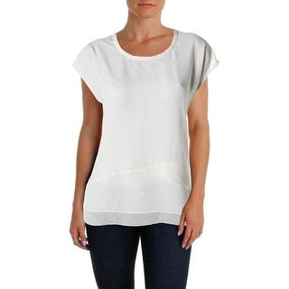 Nic + Zoe Womens Juniors Chiffon Tiered Pullover Top