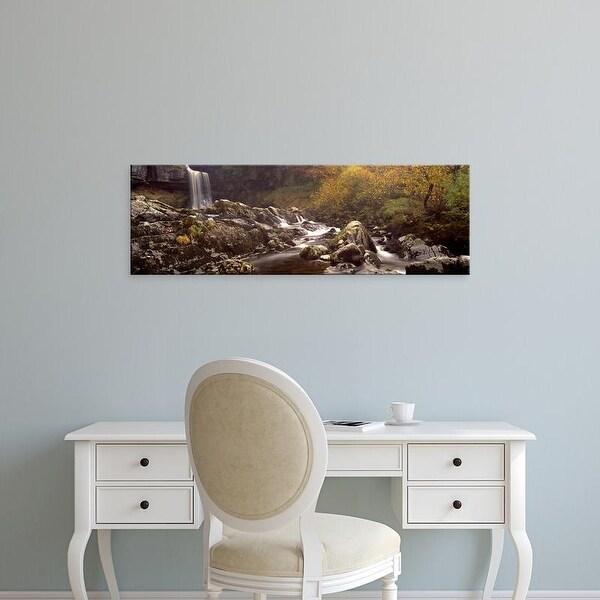 Easy Art Prints Panoramic Images's 'Thornton Force, Ingleton, Yorkshire Dales, England, United Kingdom' Canvas Art