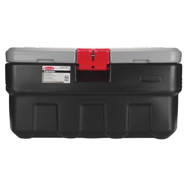 Rubbermaid RMAP350000 ActionPacker Storage Tote, 35 Gallon, Black