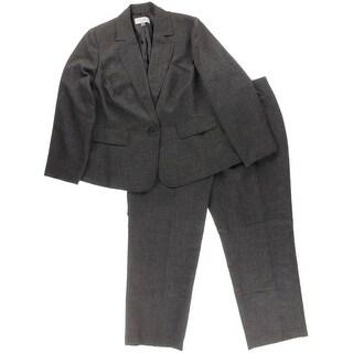 Le Suit Womens Plus Cannes Textured 2PC Pant Suit - 16W