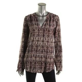 Velvet Womens Pattern Long Sleeves Pullover Top