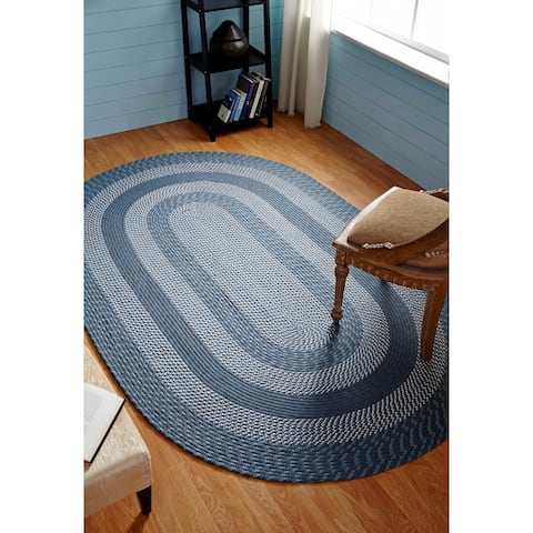 Better Trends Newport Braid Collection is Durable & Stain Resistant Reversible Indoor Utility Rug