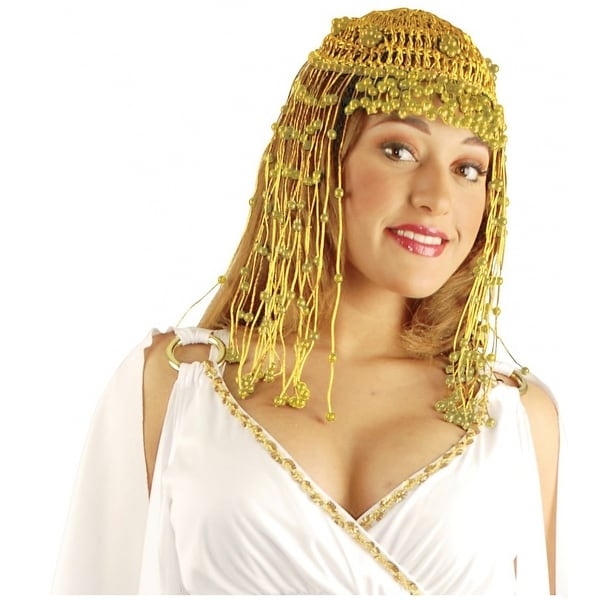 Cleopatra Beaded Headpiece Adult Costume Accessory