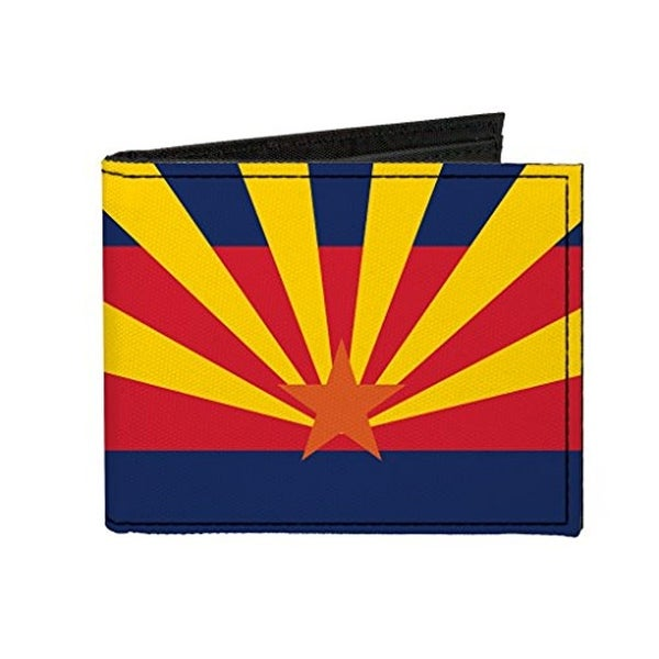 Buckle-Down Canvas Bi-fold Wallet - Arizona Flag Accessory