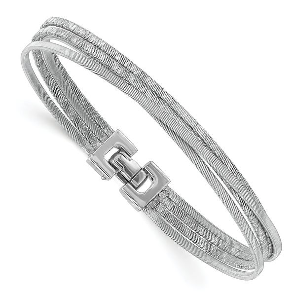 Sterling Silver Rhodium-plated High Polished Bracelet by Versil. Opens flyout.