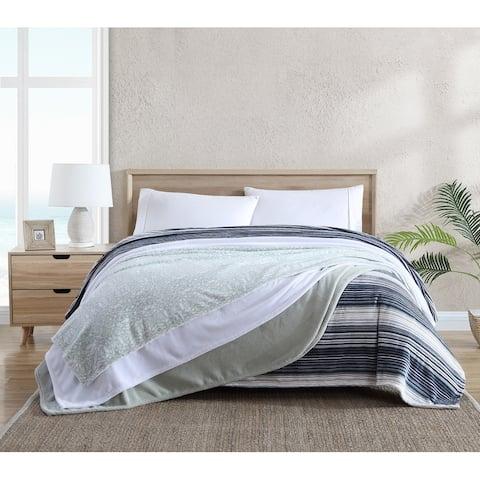 Tommy Bahama Ultra Soft Plush Reversible Blanket