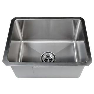 "Miseno MSS161520SR 20"" Undermount Single Basin Stainless Steel Bar Sink - Drain Assembly, Basin Rack and Maintenance Kit"