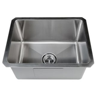 "Miseno MSS161520SR 20"" Undermount Single Basin Stainless Steel Bar Sink - Drain Assembly, Basin Rack and Maintenance Kit"