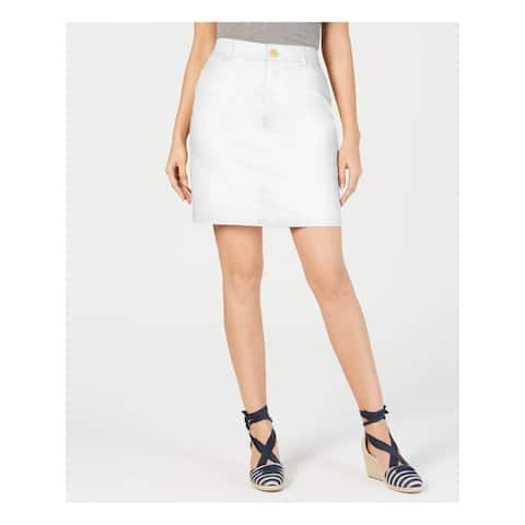 CHARTER CLUB Womens White Short A-Line Skirt Size 18