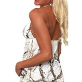 Women's White Camo Authentic True Timber Bikini Tankini TOP ONLY Beach Swimwear - Thumbnail 2