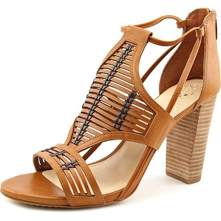 Vince Camuto Ceara Women  Open Toe Leather Tan Sandals