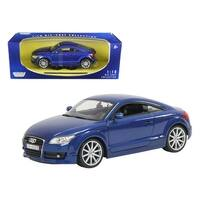 2007 Audi TT Blue 1/18 Diecast Car Model by Motormax